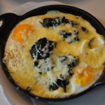 Shuna described it as everything you like baked in a little cast iron pot. Eggs, grits, collards and chedder.  That's a pretty likeable combo.