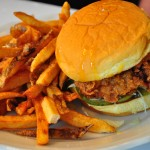 Fried chicken sandwich: Although the dark meat chicken was excellently fried, I found the honey mustard sauce a bit too cloyingly sweet. The fries were delicious.