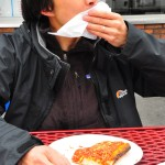 L&B square: reminiscent to me of a good version of school lunch pizza.