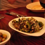 Roaste brussel sprouts served with tahini and yogurt were simply divine.  Seriously. I think God made them.