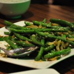 Say gwai dao - fried long beans cooked with picked vegetable.  The wonders a hot wok works on beans.