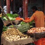 Fresh produce in the old city of Jaipur