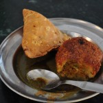 Samosa and aloo tikki stuffed with lentils.
