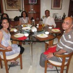 A light dinner with Shefali's family