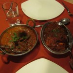Laal maans (spicy mutton) and butter chicken at Kalinga restaurant in Jodhpur