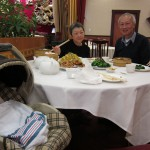Kaya's first dim sum with her Mama and Yeye. She slept through it.